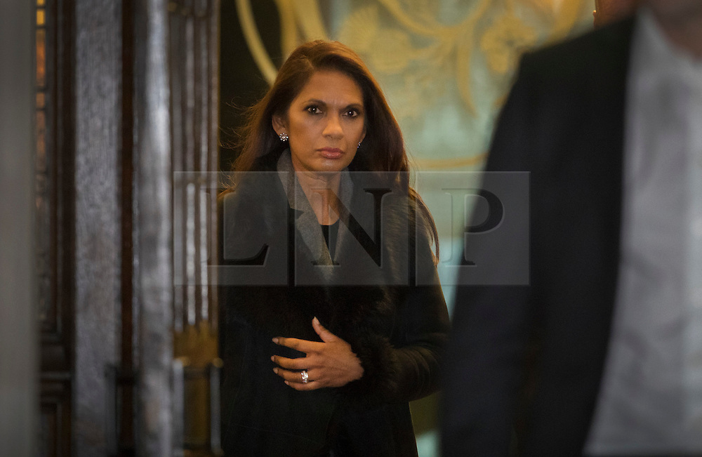 © Licensed to London News Pictures. 05/12/2016. London, UK. Campaigner Gina Miller leaves the Supreme Court in Westminster, London at the end of the first day of a Supreme Court hearing to appeal against a November 3 High Court ruling that Article 50 cannot be triggered without a vote in Parliament. Photo credit: Peter Macdiarmid/LNP