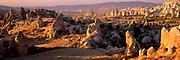 TURKEY, ANATOLIA, CAPPADOCIA landscape, eroded volcanic 'tuff', Urgup