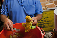 PALERMO, ITALY - 8 OCTOBER 2012: Street food in Palermo, on October 8, 2012.