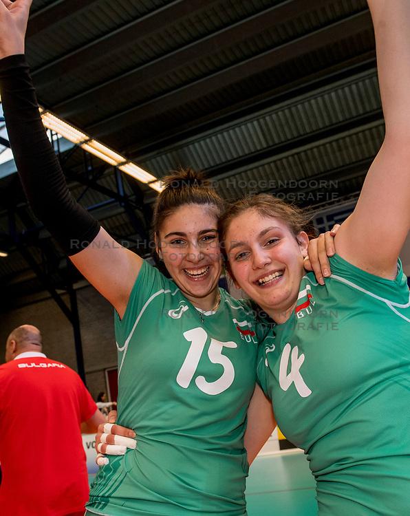 02-04-2017 NED:  CEV U18 Europees Kampioenschap vrouwen dag 2, Arnhem<br /> Bulgarije - Turkije 3-2 / Borislava Saykova #4, Mariya Krivoshiiska #15
