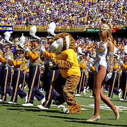 Oct 2, 2010; Baton Rouge, LA, USA; The LSU Tiger Bend performs prior to kickoff of a game between the LSU Tigers and the Tennessee Volunteers at Tiger Stadium. LSU defeated Tennessee 16-14.  Mandatory Credit: Derick E. Hingle
