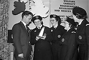 31/03/1963<br /> 03/31/1963<br /> 31 March 1963<br /> Civil Defence Competitions at Jervis Street Hospital, Dublin sponsored by W.D. &amp; H.O. Wills Ltd., for the Gold Flake Trophy. Picture shows (l-r): Instructor Steve Donoghue with winning team members Miss Frances Todd; Miss Carmel Doyle; Mrs F. Brierton and Miss Eithne McManus.