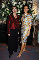 Left to right, BARBARA KOVAC MD of Tiffany UK and ALEX MEYERS at jewellers Tiffany's Christmas party held at The Savile Club, 69 Brook Street, London on 14th December 2004.<br /><br />NON EXCLUSIVE - WORLD RIGHTS