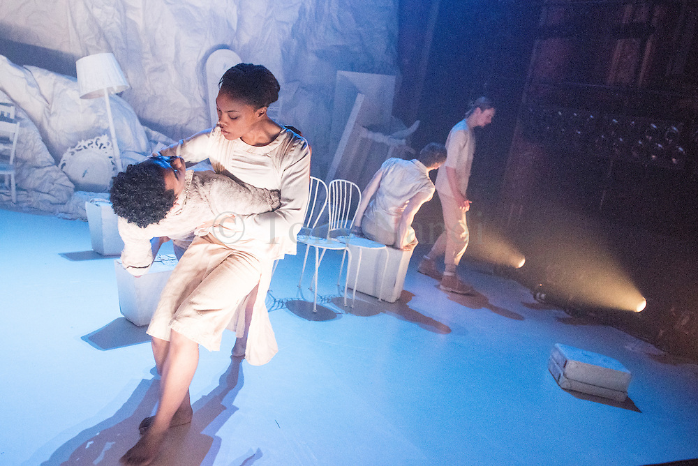 Hubert Essakow's Terra has its World Premiere on 23 February and runs until 12 March. It will be the first dance performance in the main auditorium of the Print Room's new home, the Coronet in Notting Hill. Essakow sends his dancers on a journey through the shifting horizons and changing seasons of an increasingly unpredictable earth.  The set designs by Belgian visual artists Sofie Lachaert and Luc d'Hanis evoke a bleak landscape of sand and rock. Picture features dancers Luke Crook & Monique Jonas.
