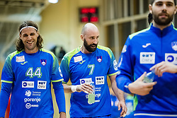 Bombac Dejan and Kavticnik Vid of Slovenia during friendly handball match between national teams Slovenia and Montenegro on 4th Januar, 2020, Trbovlje, Slovenia. Photo By Grega Valancic / Sportida