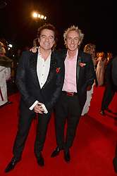 Left to right, CHARLES WORTHINGTON and ALLAN PETERS at the Collars & Coats Gala Ball in aid of Battersea Dogs & Cats Home held at Battersea Evolution, Battersea Park, London on 7th November 2013.