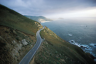 California, Route 1, Big Sur, Aerial, Sunset, Pacific Ocean, Big Sur is located 26 miles south of Carmel on the Central California Coast. Surrounded.by Ventana Wilderness Area and the Los Padres National Forest,