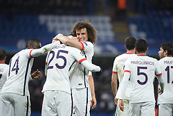 09.03.2016, Stamford Bridge, London, ENG, UEFA CL, FC Chelsea vs Paris Saint Germain, Achtelfinale, Rueckspiel, im Bild matuidi blaise, rabiot adrien, david luiz // during the UEFA Champions League Round of 16, 2nd Leg match between FC Chelsea vs Paris Saint Germain at the Stamford Bridge in London, Great Britain on 2016/03/09. EXPA Pictures © 2016, PhotoCredit: EXPA/ Pressesports/ LAHALLE PIERRE<br /> <br /> *****ATTENTION - for AUT, SLO, CRO, SRB, BIH, MAZ, POL only*****