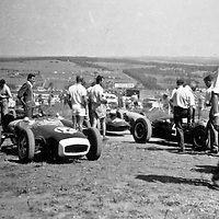 #12 Lotus 18 entered by Ecurie Judette and driven by Bob van Niekerk at the 1962 Rand Autumn Trophy
