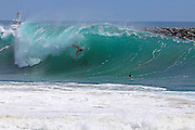 Body Surfing At The Wedge In Newport