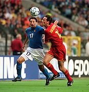 GIANLUCA ZAMBROTTA .ITALY.ITALY V BELGIUM (0-1) 13/06/00 BRUSSELS EURO 2000.PHOTO ROGER PARKER.