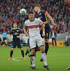 20180311, VfB Stuttgart vs RB Leipzig, Mercedes Benz Arena Fussball, Sport, im Bild:..Ibrahima Konate (RB Leipzig) vs Mario Gomez (VFB Stuttgart)...*Copyright by:  Philippe Ruiz..Postbank Muenchen.IBAN: DE91 7001 0080 0622 5428 08..Oberbrunner Strasse 2.81475 MŸnchen, .Tel: 089 745 82 22, .Mobil: 0177 29 39 408..( MAIL:  philippe_ruiz@gmx.de ) ..Homepage: www.sportpressefoto-ruiz.de. (Credit Image: © Philippe Ruiz/Xinhua via ZUMA Wire)