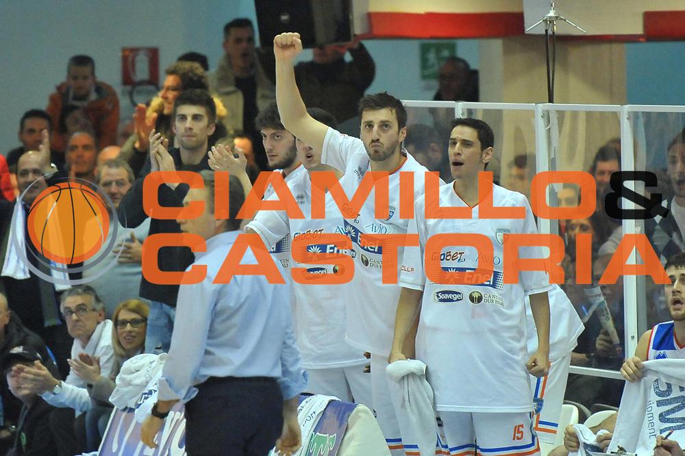 DESCRIZIONE : Brindisi Lega A 2012-13 Enel Brindisi Montepaschi Siena<br /> GIOCATORE : Team<br /> CATEGORIA : Esultanza<br /> SQUADRA : Enel Brindisi<br /> EVENTO : Campionato Lega A 2012-2013 <br /> GARA : Enel Brindisi Montepaschi Siena<br /> DATA : 28/01/2013<br /> SPORT : Pallacanestro <br /> AUTORE : Agenzia Ciamillo-Castoria/V.Tasco<br /> Galleria : Lega Basket A 2012-2013  <br /> Fotonotizia : Brindisi Lega A 2012-13 Enel Brindisi Montepaschi Siena