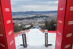 Start box prior to the 1st Run of the 8th Ladies' Slalom at 52nd Golden Fox - Maribor of Audi FIS Ski World Cup 2015/16 before the race was cancelled due to soft snow and safety issues, on January 31, 2016 in Pohorje, Maribor, Slovenia. Photo by Vid Ponikvar / Sportida
