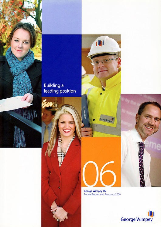 UK<br /> George Wimpey Annual Reports and Corporate Social Responsibility Reports.George Wimpey is now Taylor Wimpey after merging with Taylor Woodrow<br /> Photography by Richard Olivier© 2009<br /> Tel 0044 07947 884 517<br /> www.linkphotographers.com