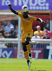 Newport County's Ismail Yakubu - Photo mandatory by-line: Harry Trump/JMP - Mobile: 07966 386802 - 06/04/15 - SPORT - FOOTBALL - Sky Bet League Two - Exeter City v Newport County - St James Park, Exeter, England.