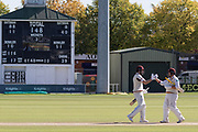 Northants win by 7 wickets during the Specsavers County Champ Div 2 match between Leicestershire County Cricket Club and Northamptonshire County Cricket Club at the Fischer County Ground, Grace Road, Leicester, United Kingdom on 13 September 2019.