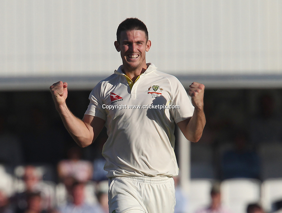 Mitchell Marsh of Australia celebrates taking a wicket (which was ruled out for no-ball). England v Australia, 5th and final Ashes Test, Day 2, Oval, London. 21/08/2015 © Matthew Impey/www.cricketpix.com