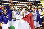 DESCRIZIONE : Pescara Giochi del Mediterraneo 2009 Mediterranean Games Italia Serbia  Italy  Serbia Final Women<br /> GIOCATORE : Team <br /> SQUADRA : Italia Italy<br /> EVENTO : Pescara Giochi del Mediterraneo 2009<br /> GARA : Italia Serbia  Italy  Serbia<br /> DATA : 02/07/2009<br /> CATEGORIA : team esultanza<br /> SPORT : Pallacanestro<br /> AUTORE : Agenzia Ciamillo-Castoria/C.De Massis<br /> Galleria : Giochi del Mediterraneo 2009<br /> Fotonotizia : Pescara Giochi del Mediterraneo 2009 Mediterranean Games Italia Serbia  Italy  Serbia Final Women<br /> Predefinita :