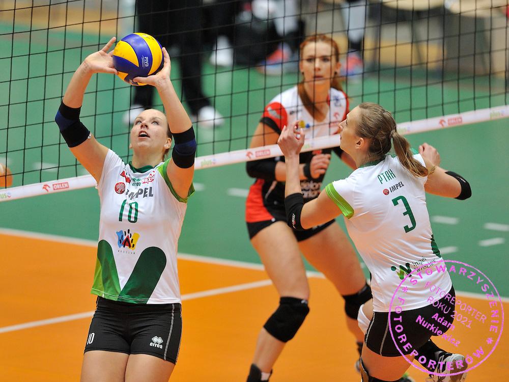 Wroclaw 05/10/2014 Mecz Orlen Ligi Impel Wroclaw v KS Palac Bydgoszcz.<br /> Na zdj. Denise Hanke /Impel/<br /> Fot. Piotr Hawalej