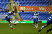 Reading's Nick Blackman freekick hits the bar during the Sky Bet Championship match between Reading and Queens Park Rangers at the Madejski Stadium, Reading, England on 3 December 2015. Photo by Mark Davies.