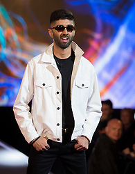 BBUK: Hussain Ahmed, New Housemate enters the Big Brother House at Elstree Studios, Borehamwood, 5 October 2018.<br />