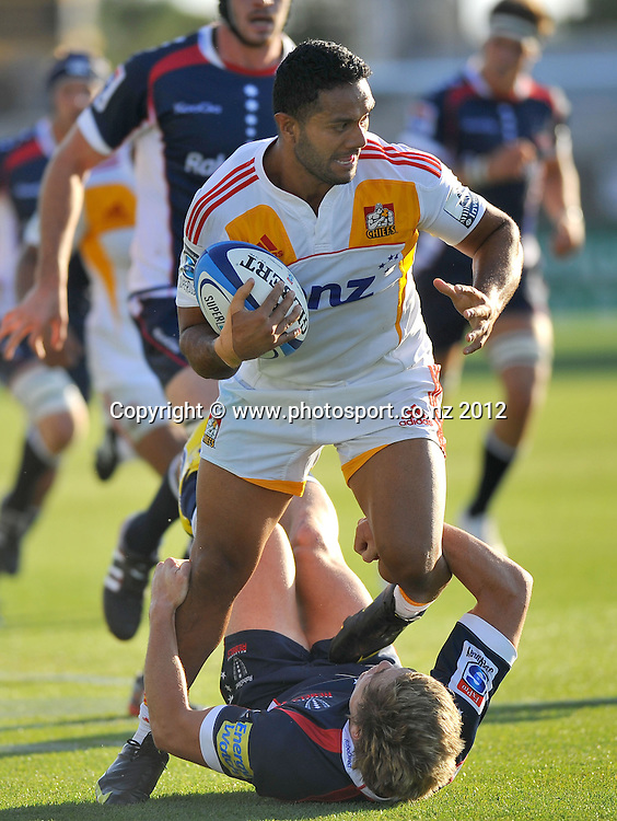 Lelia Masaga (Chiefs)<br /> Rebels vs Chiefs<br /> Rugby Union - 2012 Super Rugby<br /> Simonds Stadium, Geelong<br /> Friday 3 February 2012<br /> &copy; Sport the library / Jeff Crow