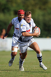Bristol replacement Rupert Freestone in action - Photo mandatory by-line: Rogan Thomson/JMP - Tel: Mobile: 07966 386802 01/09/2013 - SPORT - RUGBY UNION - Station Road, Cribbs Causeway, Bristol - Clifton RFC v Bristol Rugby - Pre Season Friendly.