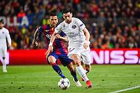 Javier PASTORE / Dani ALVES - 21.04.2015 - Barcelone / Paris Saint Germain - 1/4Finale Retour Champions League<br />Photo : Dave Winter / Icon Sport