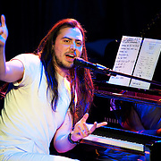 January 8, 2012 - Manhattan, NY : Andrew W.K. (piano and vocals) performs with The Calder Quartet (not pictured) at Le Poisson Rouge in Manhattan on Sunday evening.    CREDIT: Karsten Moran for The New York Times