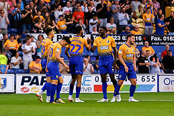 Mansfield Town celebrate their second goal against Sheffield Wednesday - Mandatory by-line: Ryan Crockett/JMP - 24/07/2018 - FOOTBALL - One Call Stadium - Mansfield, England - Mansfield Town v Sheffield Wednesday - Pre-season friendly