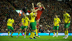 22.10.2011, Anfield Stadion, Liverpool, ENG, PL, FC Liverpool - Norwich City, im Bild Liverpool's Dirk Kuyt in action against Norwich City during the Premiership match at Anfield // during the Premier League football match between FC Liverpool - Norwich City, at Anfield Stadium, Liverpool, United Kingdom on 22/10/2011. EXPA Pictures © 2011, PhotoCredit: EXPA/ Propaganda Photo/ David Rawcliff +++++ ATTENTION - OUT OF ENGLAND/GBR+++++