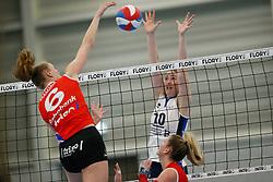 20180303 NED: Eredivisie Sliedrecht Sport - VC Sneek, Sliedrecht <br />Lieze Braaksma of VC Sneek, Carlijn Ghijssen- Jans (10) of Sliedrecht Sport<br />&copy;2018-FotoHoogendoorn.nl / Pim Waslander