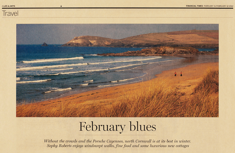 Constantine Bay, North Cornwall.<br /> <br /> Commissioned by the FINANCIAL TIMES WEEKEND.
