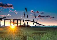 Ravenel Bridge sunset #5 from Mt. Pleasant Waterfront Park.