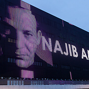 NLD/Amsterdam/20121023 - Najib Amhali kondigt optreden aan in de Ziggo Dome Amsterdam aan, Aankondiging aan de buitenzijde van het Ziggo Dome