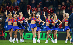 LONDON, ENGLAND - Saturday, February 14, 2015: Crystal Palace's Crystals Cheerleaders before the FA Cup 5th Round match against Liverpool at Selhurst Park. (Pic by David Rawcliffe/Propaganda)