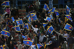 Western Province fans celebrate during the Currie Cup Premier Division match between the DHL Western Province and the Sharks held at the DHL Newlands Rugby Stadium in Cape Town, South Africa on the 3rd September  2016<br /> <br /> Photo by: Shaun Roy / RealTime Images