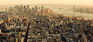 New York . elevated view. Manhattan south,  in the distance wall street area towers . Hudson and east river   / Sud de Manhattan,  au fond le quartier de wall street  New york - Etats unis  vue aerienne