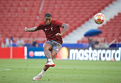 MADRID, SPAIN - Friday, May 31, 2019: Liverpool's Georginio Wijnaldum during a training session ahead of the UEFA Champions League Final match between Tottenham Hotspur FC and Liverpool FC at the Estadio Metropolitano. (Pic by David Rawcliffe/Propaganda)