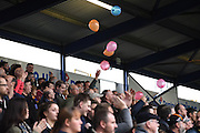 Mansfield fans in party spirit ahead of the Sky Bet League 2 match between Portsmouth and Mansfield Town at Fratton Park, Portsmouth, England on 24 October 2015. Photo by Michael Hulf.