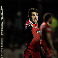 Edinburghs' Sam Hidalgo-Clyne gives instructions to his team mates.<br /> <br /> Photographer Simon Latham/Replay Images<br /> <br /> Guinness PRO14 - Dragons v Edinburgh - Friday 23rd February 2018 - Eugene Cross Park - Ebbw Vale<br /> <br /> World Copyright &copy; Replay Images . All rights reserved. info@replayimages.co.uk - http://replayimages.co.uk