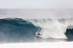 December 8, 2017 - Oahu, Hawaii, U.S. - - Benji Brand of Hawaii advances to the Quarter Finals of the Pipe Invitational after placing second in Heat 2 of Round One at Pipe, Oahu. (Credit Image: © WSL via ZUMA Wire/ZUMAPRESS.com)