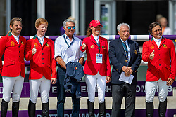 Springteam Portugal<br /> Rotterdam - Europameisterschaft Dressur, Springen und Para-Dressur 2019<br /> Parcoursbesichtigung<br /> Longines FEI Jumping European Championship - 1st part - speed competition against the clock<br /> 1. Runde Zeitspringen<br /> 21. August 2019<br /> © www.sportfotos-lafrentz.de/Stefan Lafrentz