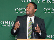 5/10/06...Contact: Director of Media Relations Jack Jeffery at 740-597-1793 or jefferyj@ohio.edu, or Media Relations Coordinator Jessica Stark at 740-597-2938 or starkj@ohio.edu...OHIO UNIVERSITY NAMES KENT SMITH.VICE PRESIDENT FOR STUDENT AFFAIRS...ATHENS, Ohio ? Kent J. Smith, Jr., Ph.D., has been named vice president for student affairs at Ohio University, effective July 24. He will serve as a consultant prior to his official starting date. ..Smith is currently dean of students and chief student affairs officer at Auburn University (Ala.), a position he has held since January 2004. ..?I am very pleased that Dr. Kent Smith is joining Ohio University in this very important position,? Ohio University President Roderick J. McDavis said. ?Kent has outstanding professional and personal qualities. He is well regarded as an energetic individual who connects with students and is a very strong leader. I look forward to having him as part of the Ohio University community and helping to enhance the exceptional educational experience for our students that is a hallmark of our university.? ..The mission of Ohio University's Division of Student Affairs is to prepare students to be responsible and contributing members of a diverse, global society by providing learning-centered environments, meaningful out-of-class opportunities, and professional support services that help them learn through their experiences and achieve academic success.  The vice president for student affairs oversees 13 departments, including Baker University Center, Judiciaries and Campus Life...?I am excited to join the group of student affairs leaders in building partnerships across campus to support an outstanding learning environment for students,? Smith said. ?I am honored to be named to this position and look forward to working with the students of Ohio University, who contribute to the life of the university.?..-MORE-.Smith has had a progressive career in student affairs. He was previously director of