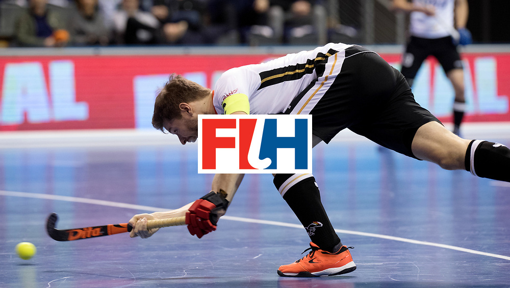 BERLIN - Indoor Hockey World Cup<br /> Men: Germany -  Trinidad &amp; Tobago<br /> foto: Martin H&auml;ner.<br /> WORLDSPORTPICS COPYRIGHT FRANK UIJLENBROEK