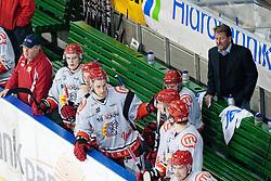 Heikki Mälkiä, head coach of HK Acroni Jesenice, during ice-hockey match between HDD Tilia Olimpija and HK Acroni Jesenice in 23rd Round of EBEL league, on November 20, 2011 at Hala Tivoli, Ljubljana, Slovenia. HDD Tilia Olimpija won 5:2. (Photo By Matic Klansek Velej / Sportida)
