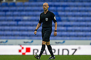 Referee Charles Breakspear during the EFL Cup match between Reading and Luton Town at the Madejski Stadium, Reading, England on 15 September 2020.