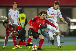 March 21, 2019 - Vienna, Austria - Marcel Sabitzer of Austria fights for the ball with Mateusz Klich of Poland during the UEFA European Qualifiers 2020 match between Austria and Poland at Ernst Happel Stadium in Vienna, Austria on March 21, 2019  (Credit Image: © Andrew Surma/NurPhoto via ZUMA Press)