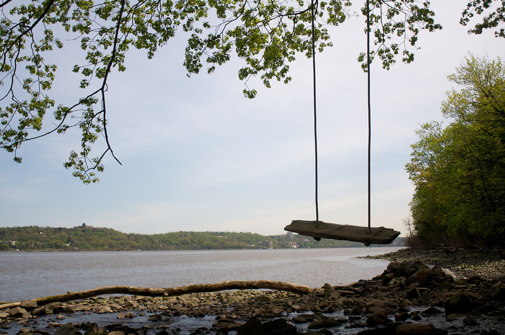 Wooden Swing over looking the Hudson River
